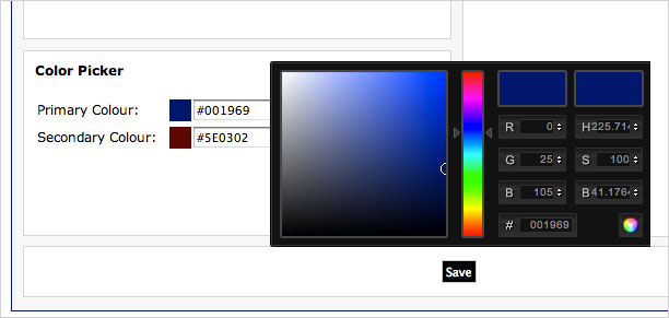 Image: Club Update - New colour picker