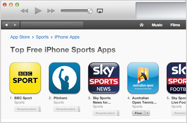 Pitchero App Ranked 2nd In the iTunes Sports App List